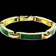 18kt Gold Enamel Link Bracelet