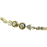 Art Deco Platinum 18kt Bicolor Gold Diamond Bracelet