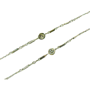 Platinum Diamond By Yard Station Chain Necklace