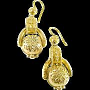 Archeological Revival 14k Gold Earrings