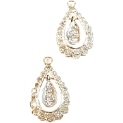 White Gold Diamond 14k White Gold Earring Jackets
