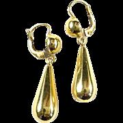 Vintage 18k Gold Whimsical Earrings