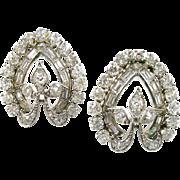 Stunning Art Deco Platimum Diamond Earrings--2.00 Carats