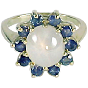 Star Sapphire 14K Gold Ring--With Written Appraisal