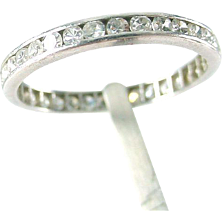 Art Deco Platinum Diamond Eternity Band Ring