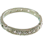 Sweet Antique Diamond Rope Motif 18k Gold Eternity Band - Red Tag Sale Item