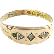 Antique English 15c Gold Diamond Band Ring--Chester 1884