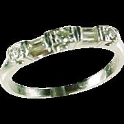Vintage Platinum Diamond Band Wedding Engagement Ring