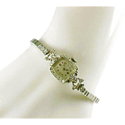 Longines Swiss Diamond 14k White Gold Watch