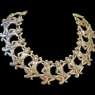 ❤$4500 APPRAISAL❤ Vintage 40s LOS CASTILLO Native Dancers Sterling Taxco Mexico Necklace - 1940s