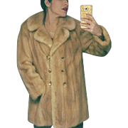 Vintage 60s HIGH END Honey Haze MINK Fur Stroller Jacket/Coat - 1960s