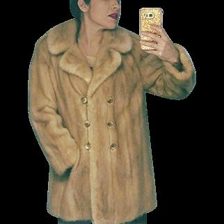 Vintage 60s HIGH END Honey Haze MINK Fur Stroller Jacket/Coat - 1960s