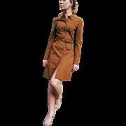 Vintage 90s PRADA ITALY iconic Microfiber Shirt Dress - 1990s