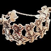 "CLEARANCE SALE Piece*********w/$2500 Appraisal: Vintage 50s Los Castillo Sterling Silver Taxco Mexico ""Dancers"" Bracelet - 1950s"