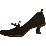 ICONIC PRADA ITALY Vintage 90s Microfiber Chunky pilgrim heel Shoes 38/8