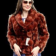 ❤SUMMER CLEARANCE ITEM!❤ Vintage $4500 FENDI for Henri Bendel of New York City 80s China Red Rabbit Fur Jacket Coat -1980s