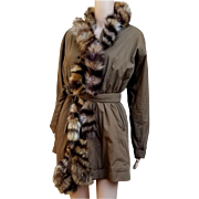 Iconic Vintage 80s GIANFRANCO FERRE 1800.00 Fox FUR Puffer Coat Jacket - 1980s