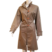 Vintage $4500.00 GIULIANA TESO 1990s Skirted Rain Trench COAT - 90s