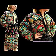 Vintage 80s OTHER DESTINATION Sequin/India Cotton boho ethnic SKIRT/JACKET Dress - 1980s