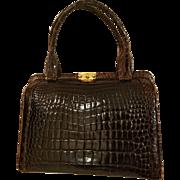$$ Vintage 50s/1950s HIGH-END Alligator Crocodile Skin Purse Bag -  ORIG LOCK/KEY