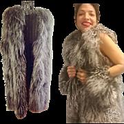Vintage 70s/1970s MONGOLIAN LAMB Curly shaggy boho hippie FUR VEST Jacket - 1 Size Fits Most