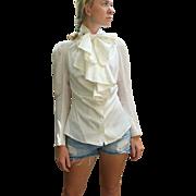"""Vintage 90s VIVIENNE WESTWOOD White Cotton """"Pirate Shirt"""" Cravat pussy bow Blouse Top - 1990s"""
