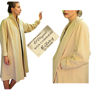 "CLASSIC 4EVER: Vintage 50s ""Country Tweeds"" Elegant Oatmeal Cashmere SWING Coat - 1950s One Size Fits Most"