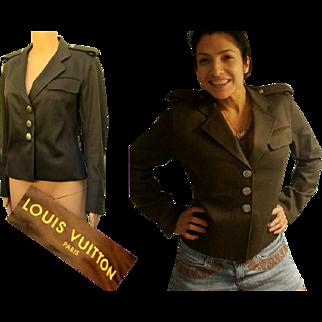 "AUTHENTIC Rare Vintage 90s $2200 LOUIS VUITTON Camo ""Military"" Jacket Coat - 1990s Runway Collection piece"