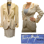 ICONIC Vintage 80s THIERRY MUGLER Structured Avant Garde Skirt Suit - 1980s