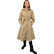 "The ULITMATE VINTAGE TRENCH! 70s A-Line dress-silhouete ""Spy Girl"" Coat 1970s"