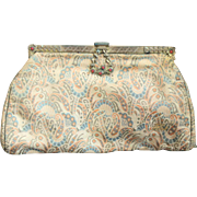 ❤❤❤❤❤ VINTAGE SALE!!!❤❤❤❤❤ Art Deco Vintage 20s French Satin Filigree/Stone Cocktail Bag Purse MADE IN FRANCE! 1920s