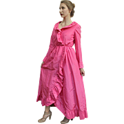 ❤❤❤❤❤ VINTAGE SALE!!! ❤❤❤❤❤ Museum-Quality Vintage 70s Mollie PARNIS Boutique Pink Satin BALL GOWN/Dress 1970s