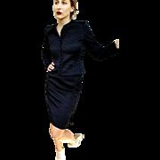 """❤❤❤❤❤ VINTAGE SALE!!! ❤❤❤❤❤ $2500 Vintage 80s MARY MCFADDEN """"Couture"""" Black Silk Cocktail Dress-Suit 1980s"""