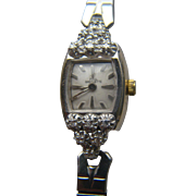 1940's 14 Karat SOLID Yellow and White Gold Paul Breguette Ladies Diamond Watch in Very Good, Running Condition