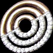 Vintage European 9 Carat Rose Gold Diamond Spiral Pendant. 20 Carats.