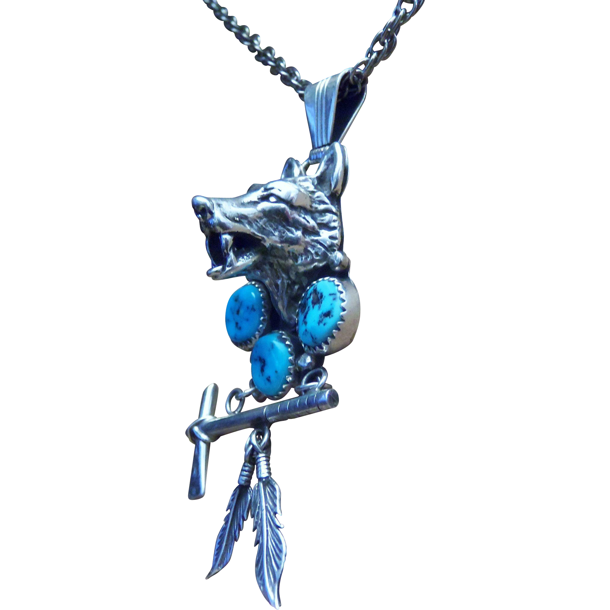 wolf zsl head shop product pendant necklace