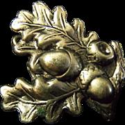 WWII German Jaeger Troops Hat Oak Leaves Acorns Badge