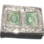 FINAL PRICE Edwardian Sterling Silver Rare Double Stamp Box.  Edward Barnsley, Birmingham, England, 1902