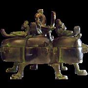 Very Rare 18th Century Brass Pandan Indian Spice Betel Nut Container.