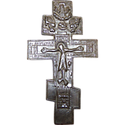 Antique Russian Orthodox Crucifix Cross. Lovely Condition