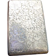Huge Vintage floral filigreed cigarette case. 5 inches by 3 inches Total weight is 175 grams. Over 6 ounces.