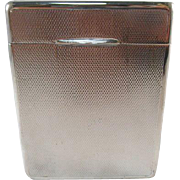 Gebruder Kuhn, German Silversmith since 1860, Art Deco Flip Top Cigarette Box. 835 Silver. Fully signed.