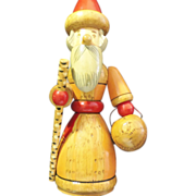 Rare Vintage Russian Santa Claus St. Nicholas Hand Carved