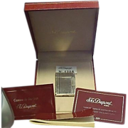St. Dupont Paris Line 1 Lighter In Original Box with all Papers #1284