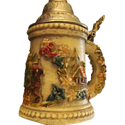 1924 Wax Stein Candle Made in Germany.