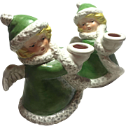 Matching Pair Christmas Candle Holder Goebel Germany 1975