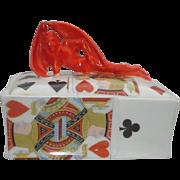 Royal Bayreuth, ' Devil and Cards ' playing card box