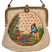 Figural / Scenic Beaded Purse - Red Tag Sale Item