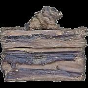 Vintage Faux-Bois Lidded Box