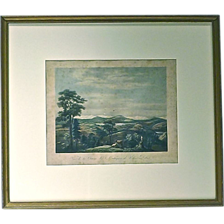 Antique Lake & Valley Engraving